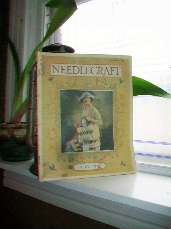 1921 Needlecraft Magazine July Issue with Great Cream Of Wheat Ad Vintage 1920s Sewing