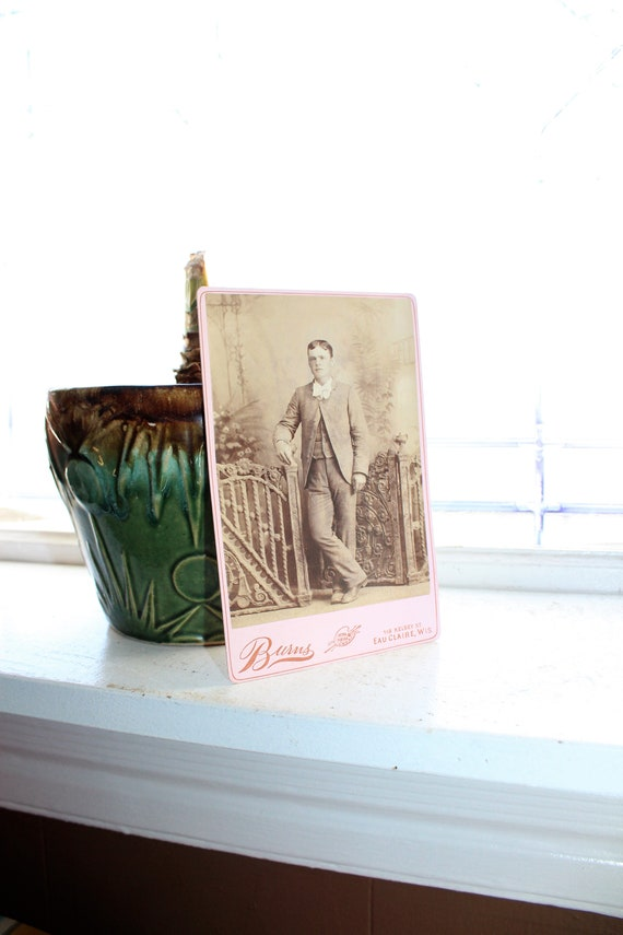 Antique Photograph Country Victorian Man 1800s Cabinet Card