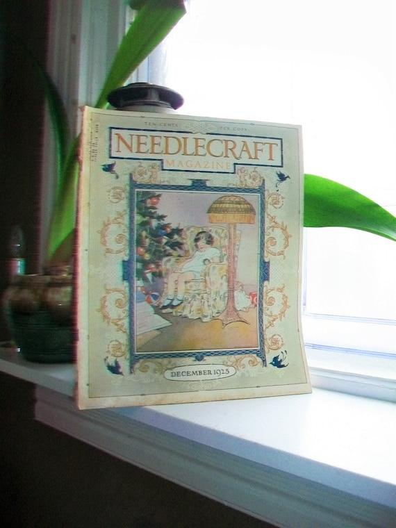 1925 Needlecraft Magazine of Home Arts December Issue Vintage 1920s Sewing