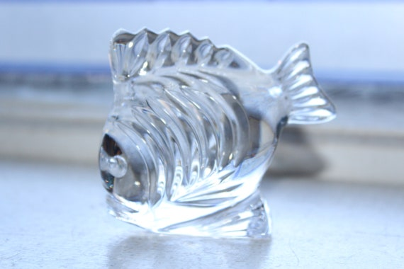 Waterford Crystal Fish Figurine Paperweight