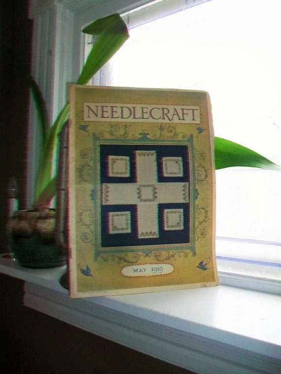 1919 Needlecraft Magazine May Issue with Great Cream Of Wheat Ad Vintage 1910s Sewing