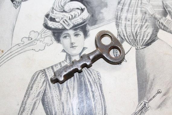 Antique Scandinavian Skeleton Key 1800s Rustic Farmhouse Decor