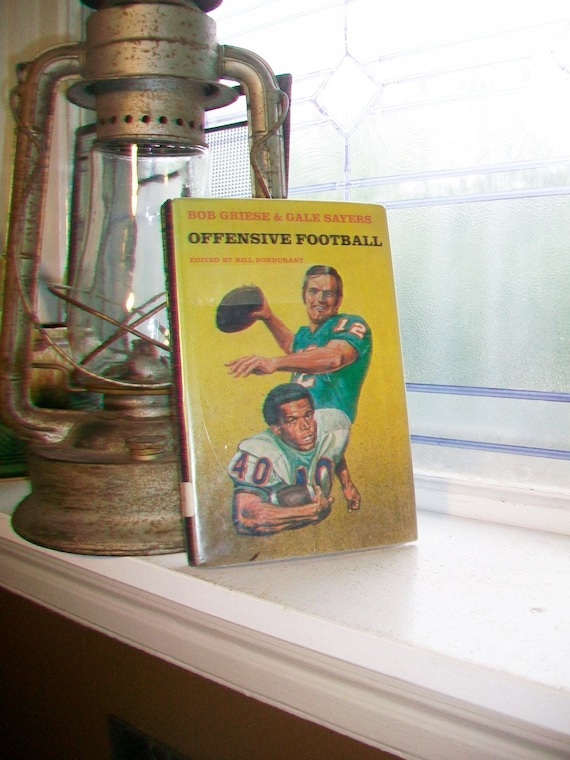 Offensive Football Vintage 1972 Football Book with Dust Jacket
