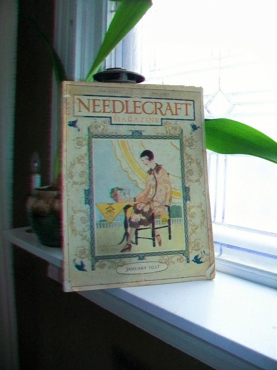 1927 Needlecraft Magazine of Home Arts January Issue Vintage Sewing 1920s