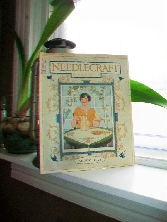 1925 Needlecraft Magazine of Home Arts August Issue Vintage 1920s Sewing