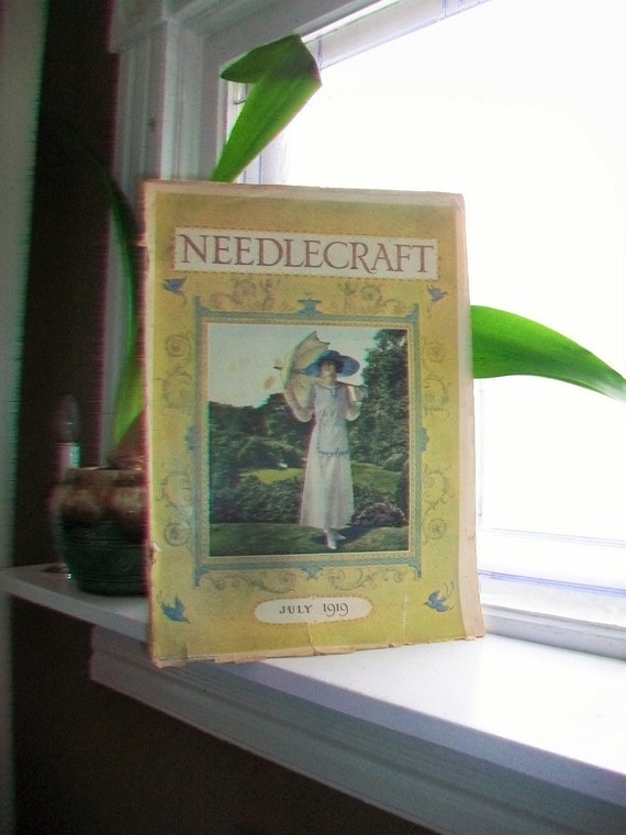 1919 Needlecraft Magazine July Issue with Great Cream Of Wheat Ad Vintage 1910s Sewing