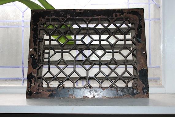 Antique Floor Heat Vent Register Grate Architectural Salvage
