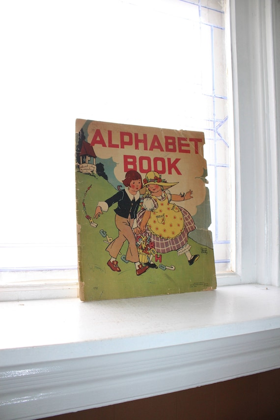 Vintage Alphabet Book Children's Book 1934