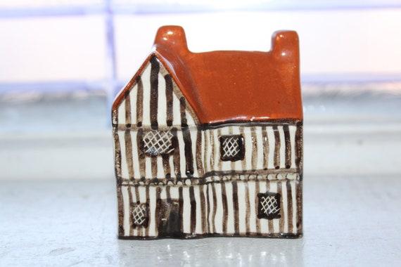 Suffolk Cottages Mudlen End Studio Figurine #13 Two Chimney House