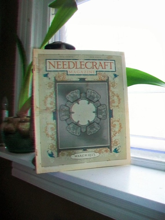1923 Needlecraft Magazine March Issue with Great Cream Of Wheat Ad Vintage 1910s Sewing