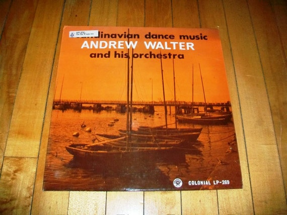 Scandinavian Dance Music Record Album Andrew Walter and Orchestra Vintage 1960s COL LP 269
