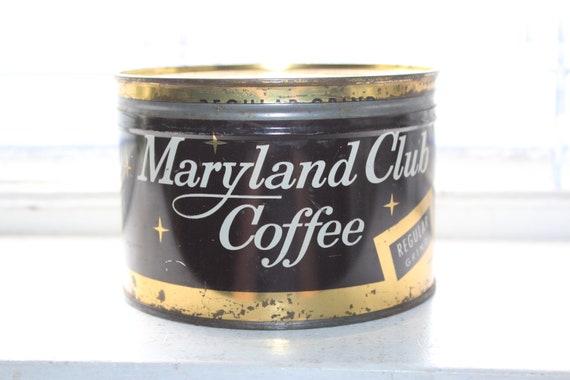 Vintage Coffee Tin Maryland Club Can