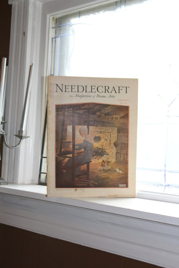 1929 Needlecraft Magazine September Issue Vintage 1920s Sewing