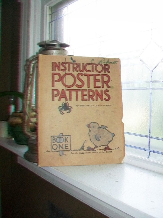 Large Instructor Poster Patterns Book by Bess Bruce Cleaveland Vintage 1926