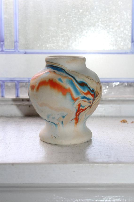 Vintage Nemadji Pottery Small Vase Southwestern Decor