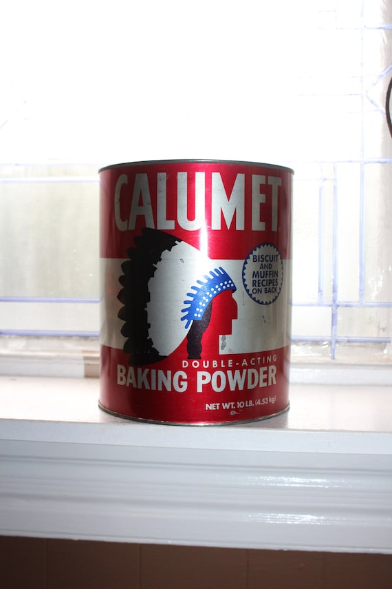 Large Vintage Calumet Baking Powder Tin 10 Lb Size