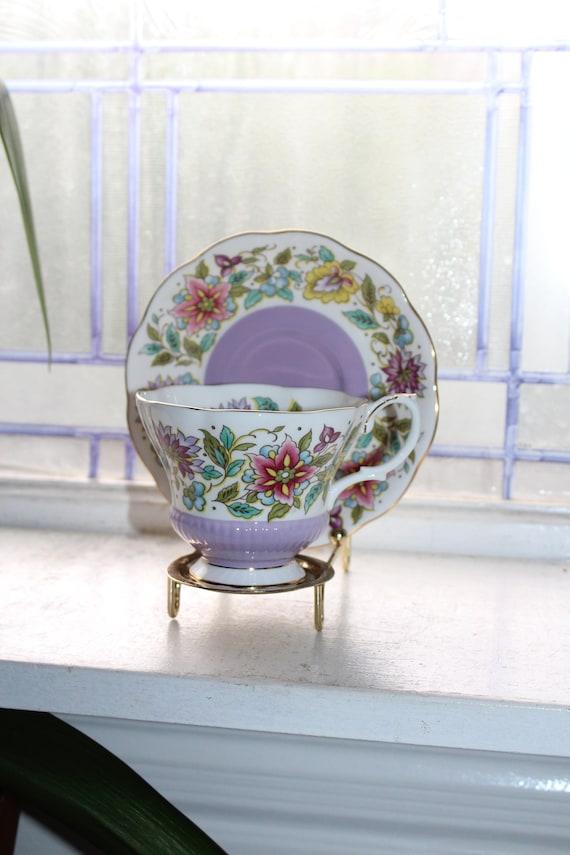 Royal Albert Jacobean Tea Cup and Saucer Vintage Bone China