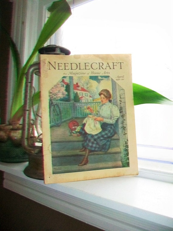 1930 Needlecraft Magazine of Home Arts April Issue Vintage 1930s Sewing