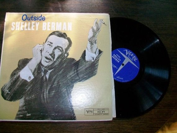 Vintage Comedy LP Record Album Outside Shelley Berman
