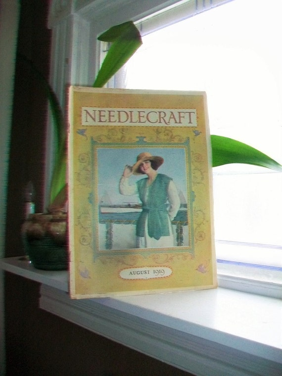 1919 Needlecraft Magazine August Issue with Great Cream Of Wheat Ad Vintage 1910s Sewing