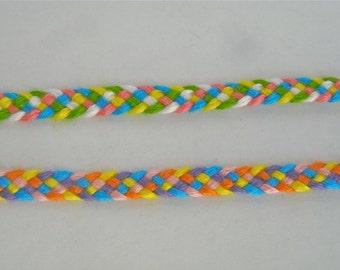 Friendship Bracelet 2-Pack - Bright Colored Big Band Weave