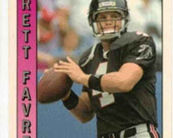 1991 Pacific Football Card Brett Favre Rookie Green Bay Packers