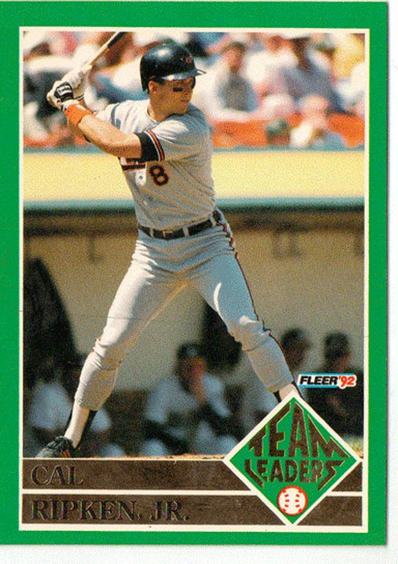 1992 Fleer Baseball Card Cal Ripken Team Leaders Baltimore Orioles