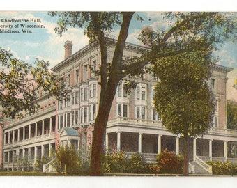 Vintage Postcard, Chadbourne Hall, University of Wisconsin, Madison, Wisconsin