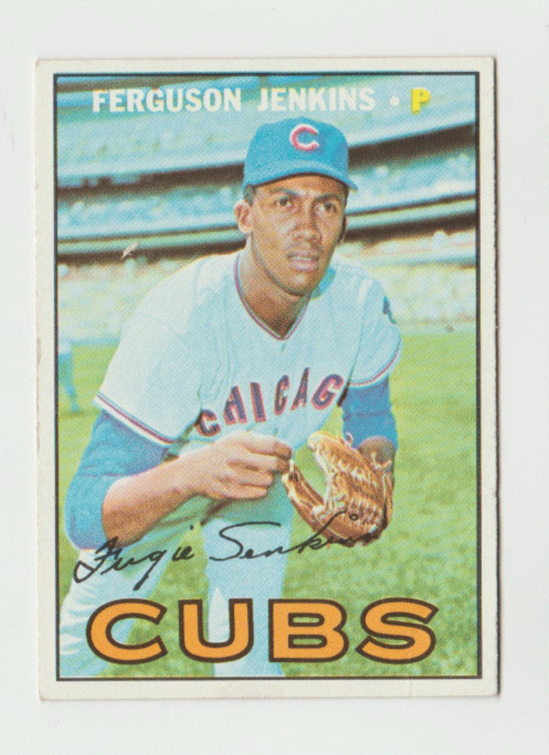1967 Topps Baseball Card Ferguson Jenkins Chicago Cubs Card 333