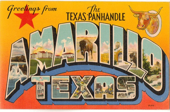 Linen postcard greetings from the texas panhandle amarillo etsy image 0 m4hsunfo