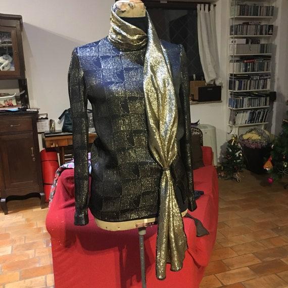 Vintage Valentino golden silk blouse '80s
