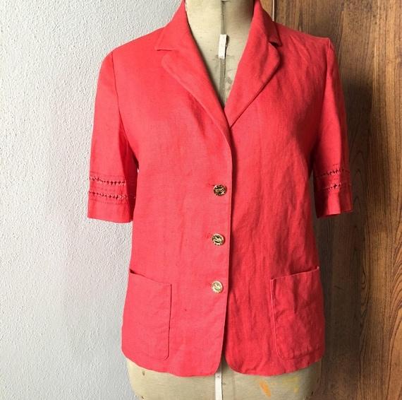 Vintage Celine linen jacket 70s