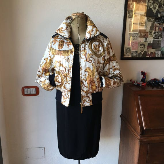 Vintage silk bomber jacket 80s