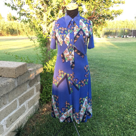Vintage cotton dress 70s