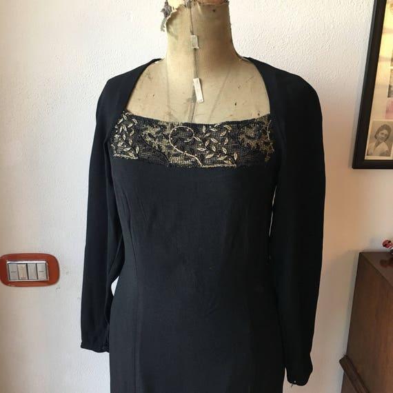 Vintage 80s black dress