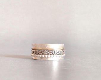 Spinner Ring - Mixed Metal Ring