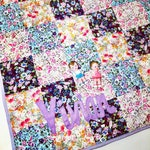 Baby Playmat, Personalised Patchwork Quilt Playmat, Baby Name Blanket, Baby gift, nursery, blanket, quilt, new baby