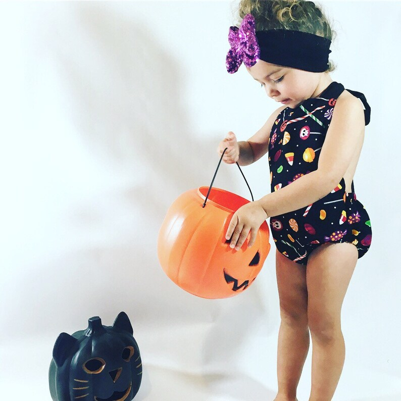 Scary Baby Girl Halloween Costumes.Baby Girl Halloween Romper And Bow Set Halloween One Peice Halloween Bow Spooky Baby Scary Baby Outfit Romper Halloween
