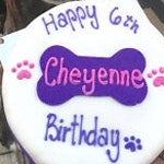 Personalized 6 inch Dog Birthday Cake Peanut Butter Banana dog cake