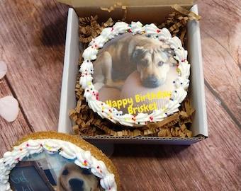 Personalized Photo Dog treats Cookie Gram your logo here Birthday Dog Treats