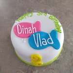 Personalized Cat Kitty Happy Birthday Siblings cake
