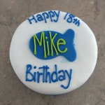 Personalized Birthday 4 inch FISH CAT birthday cake kitty cake