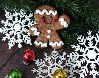 Small gingerbread man Christmas dog treat pet gift