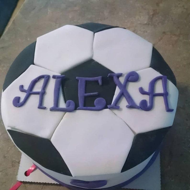Soccer ball themed dog birthday cake image 0