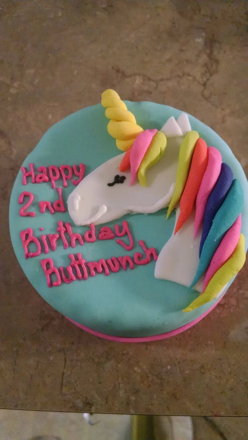 Personalized Cat Birthday Cake Unicorn Kitty Happy