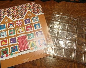 Empty Advent calendar box Ginger bread house DIY fill your self