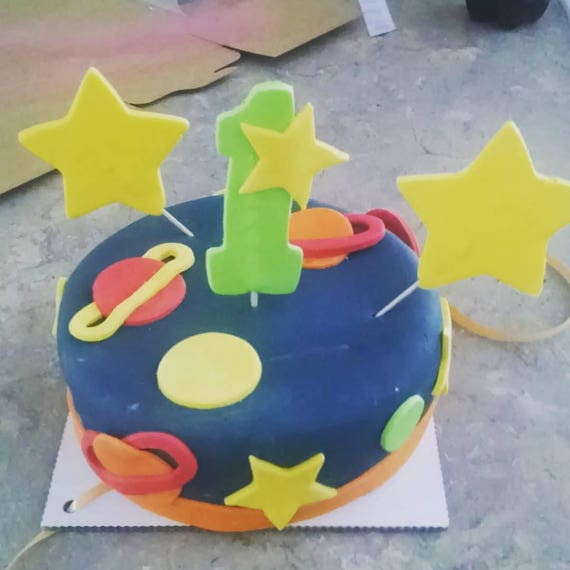 Out Of This World Space Dog Birthday Cake