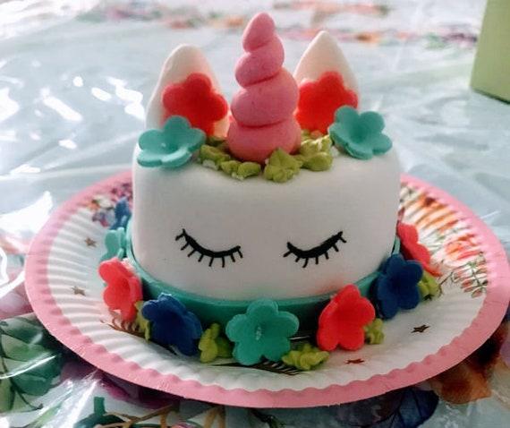 Pleasant Unicorn Cat Birthday Cake Etsy Funny Birthday Cards Online Unhofree Goldxyz