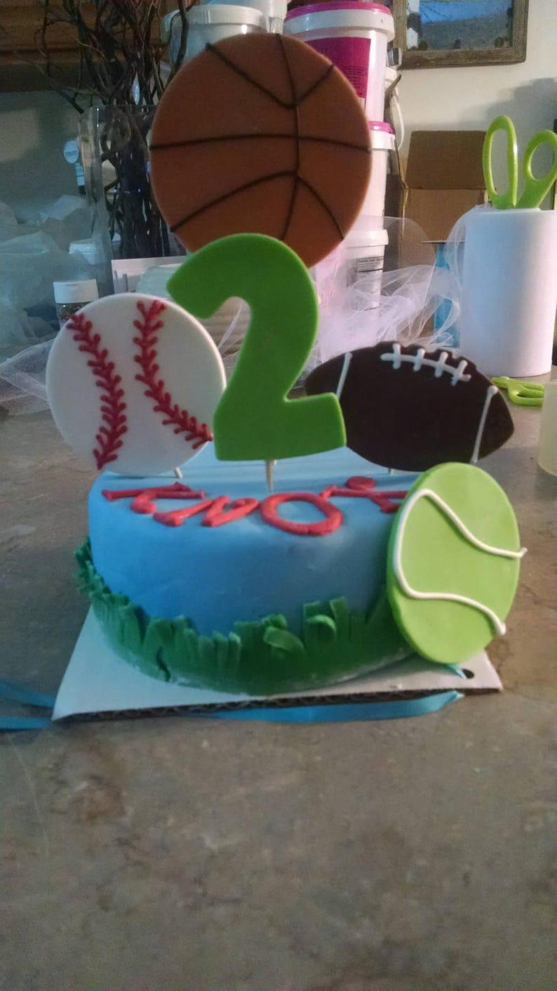 Amazing Personalized Sports Themed Birthday 6 Inch Dog Birthday Cake Etsy Birthday Cards Printable Benkemecafe Filternl