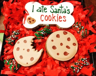 Santa's Cookies Christmas Boxed treats carob flavor
